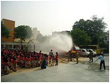 Fire Safety Drill Relief & Rescue Operations by Fire dept.